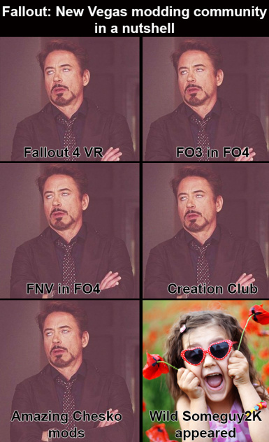 Fallout NV Modding community in a nutshell