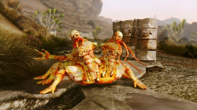 FO3 Concept Art Conjoined Centaurs Country and Rock Roll