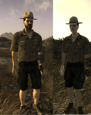 Park Ranger Uniform in game test