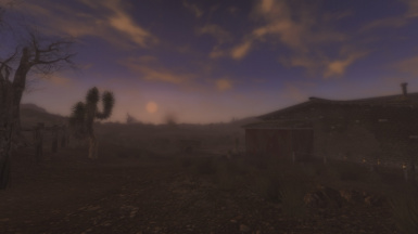 Fallout New Vegas - Sunrise over Goodsprings