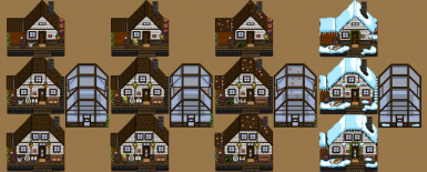 Overview seasonal farmhouses