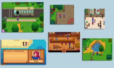 Stardew Valley Expanded - Dynamic Schedule for Sandy