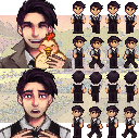Shane in a blouse and vest - further info in description