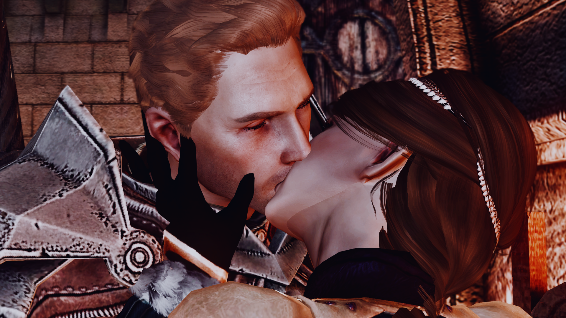 Kissing in the chapel