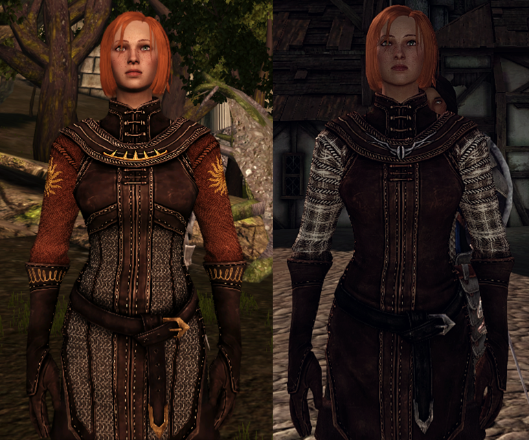 Leliana retexture new vs old