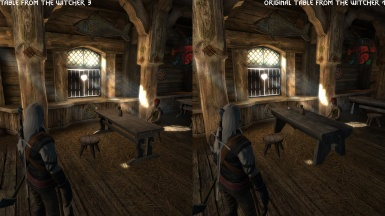 The Witcher Remaster Project Furniture model testing