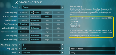 NMS New Graphics Settings