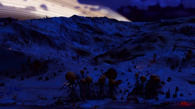 Spheringoid Valley Nightlit Panorama