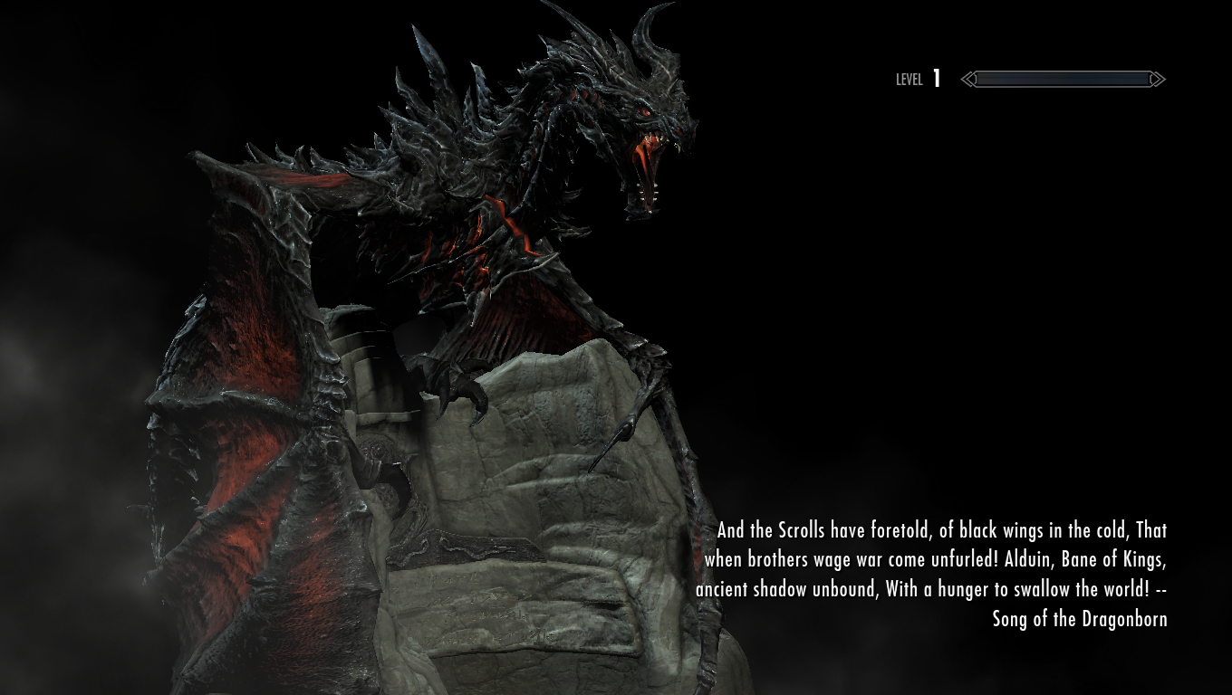 chappers demonic alduin mashup at skyrim special edition