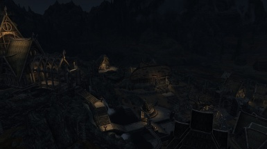 Climates of Tamriel at clear night in Whiterun
