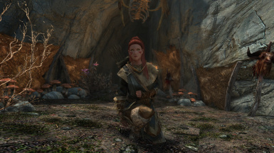 My Character in front of the  DruadachRedoubt Cave