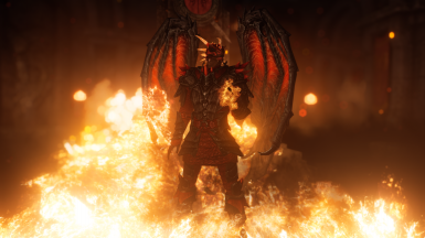 The Dragonborn playing with Fire