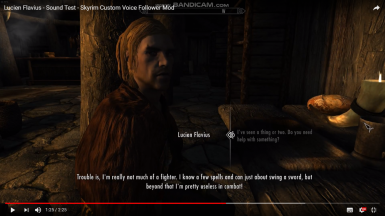 Sound Test - Lucien Flavius - Upcoming Male Follower Mod