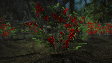 3D Snowberries with Hearthfire planter support