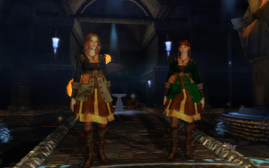 Dasaria II -- Bard and Sorceress Sisters at the Temple of Ineania in Ravenswatch