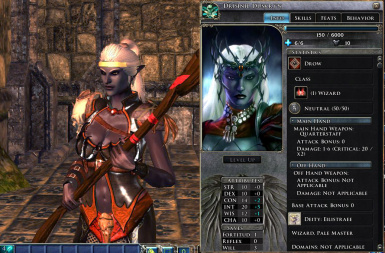 Drow wizard character