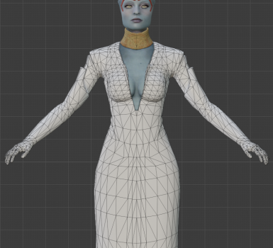 WIP A party dress for Samara