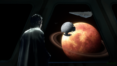 Director Krennic oversees the Death Star