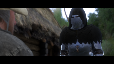 Black Hood and Plate Armor