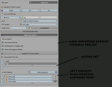 CTC exporting Screen