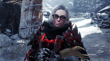 The glasses and scarf stay on during hunts