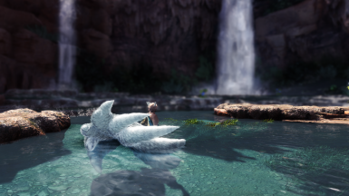 relaxing at the waterfalls