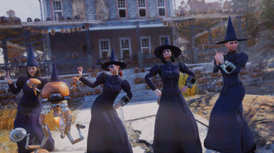 Pumpkin house witches