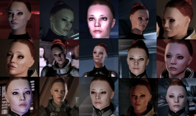 lil' collage of jane Shep face