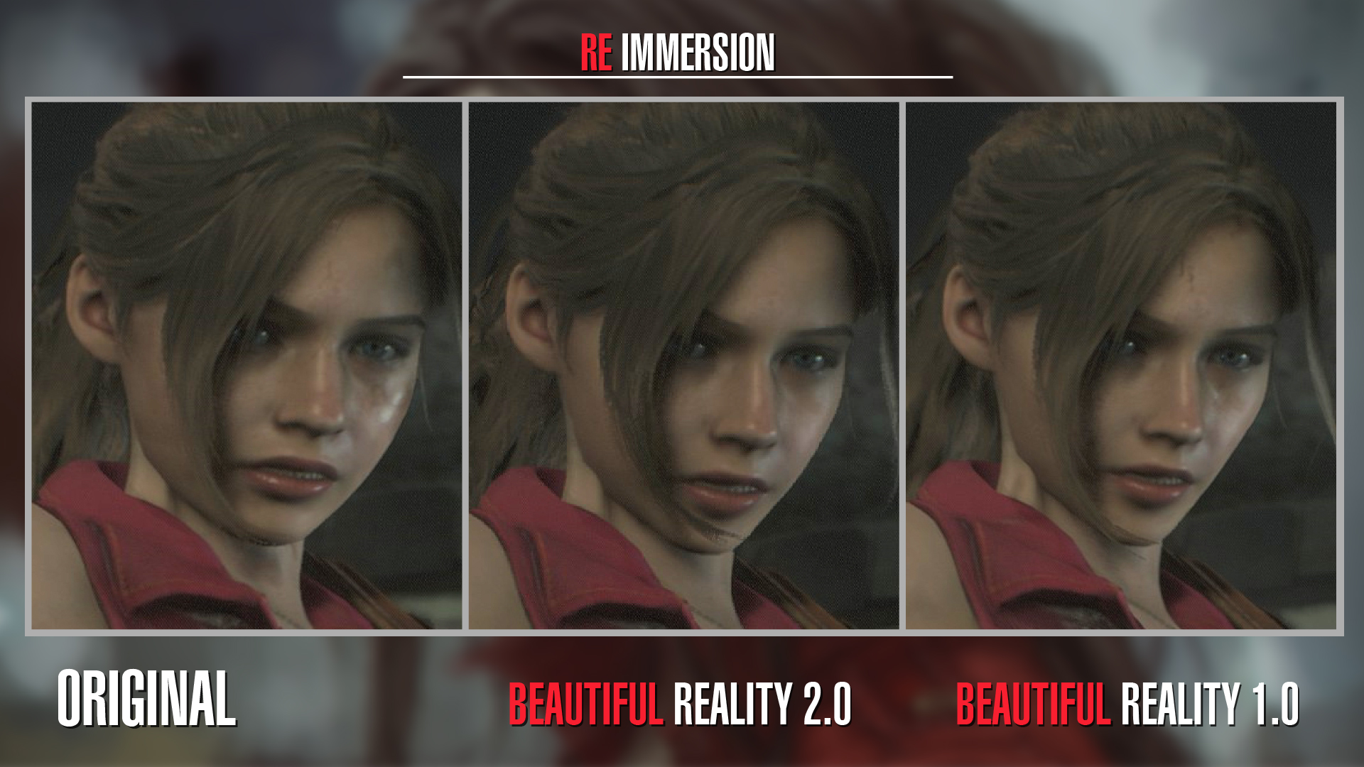 Beautiful Reality Face - Claire Update at Resident Evil 2