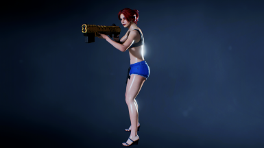 Resident Evil 2 Remake Claire Redfield - Hot Pants Jeans 2