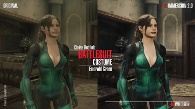 Claire Battlesuit Emerald Green