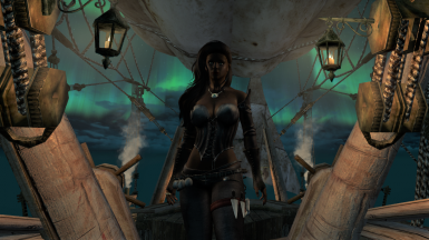Pose On Front Deck Of The Airship