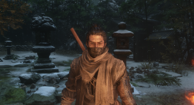 Dark Sekiro Mask