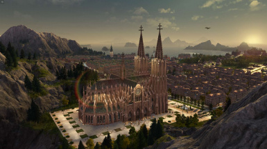 Anno 1800 Mods - Old-Town - Imperial Cathedral at Dawn