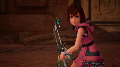 Kairi with the Oathkeeper