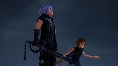 Dark Form Riku with Oblivion