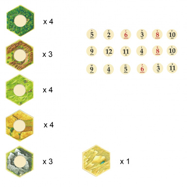 Catan Board Piece Pack