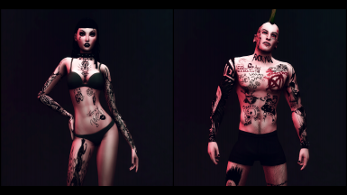 Tattoos of the Anarchic Guy and Gothic Girl