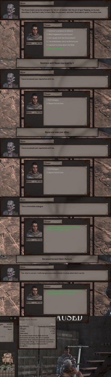 Dialogue Test and Possibilities