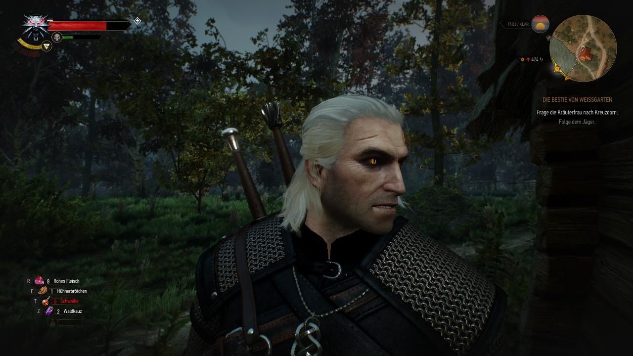 Geralt Of Rivia Old With Illuminated Eyes At The Witcher 3