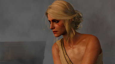 Ciri in the sauna area