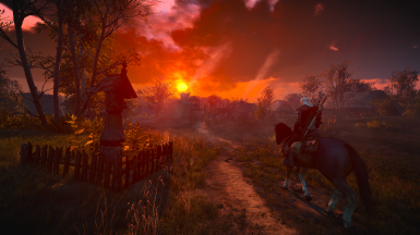 Sunset over Velen