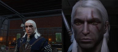 The Witcher 1 Geralt shaved