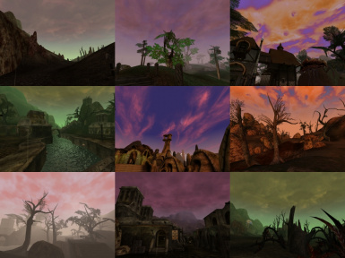 Different Sky Colors for Morrowind