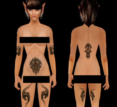 BB Wood Elf Tats