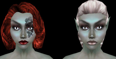 Wide Eyed Dark Elf Females