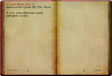 Morrowind Quest Of The Week