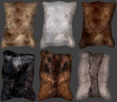 wolf and bear fur pelts