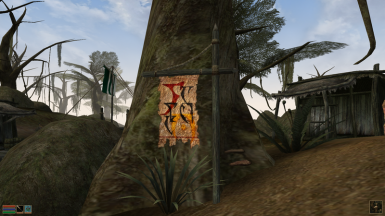 One of the new town-banners