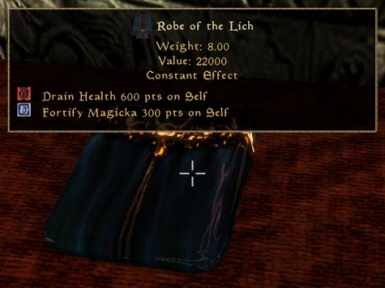 Robe of the Lich constant effect